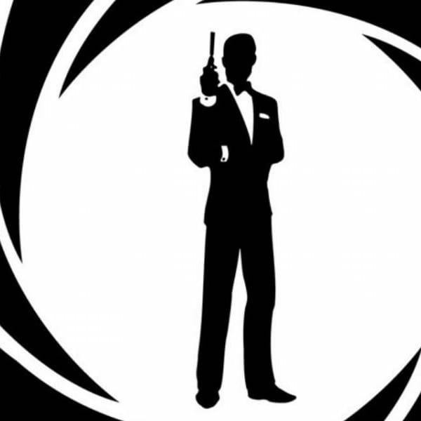 figura stilizzata di 007